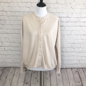 Vintage Cream Cardigan with Pearl Buttons